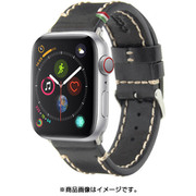 CLB010 [Cozistyle - Leather Band for Apple Watch_42mm Black]