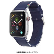 CLB00217 [Cozistyle - Striped Leather Band for Apple Watch Blue Depth /White]