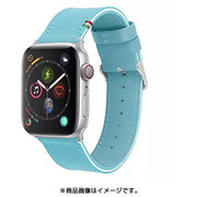CLB00817 [Cozistyle - Striped Leather Band for Apple Watch Sky Blue/White]