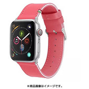 CLB00917 [Cozistyle - Striped Leather Band for Apple Watch Hot Pink/White]