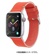 CLB01117 [Cozistyle - Striped Leather Band for Apple Watch Red/White]