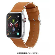 CLB01817 [Cozistyle - Striped Leather Band for Apple Watch Tan/White]