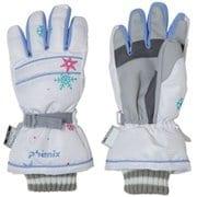 Snow Crystal Girls Gloves PS9H8GL90 WT JMサイズ [スキーグローブ キッズ]