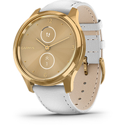 010-02241-78 [vivomove Luxe White Leather/24K Gold PVD]