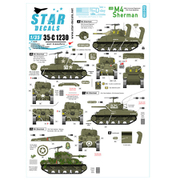 SD35-C1230 WWII 米 M4シャーマンD-デイ75周年スペシャル フランス ノルマンディー1944年 [1/35スケール ミリタリー用デカールシリーズ]