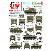 SD72-A1036 WWII 米 M7プリースト/M8自走榴弾砲75周年スペシャル フランス ノルマンディー1944年 [1/72スケール ミリタリー用デカールシリーズ]
