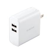 MPA-ACU05WH [スマートフォン・タブレット用AC充電器/4.8A出力/USB-Aメス2ポート/おまかせ充電搭載/ホワイト]