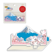 ETM-772-635 [限定 アクリルスタンド 日本ミニチュアワールド 鶴と桜と富士]
