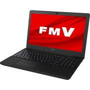 FMVA43D3BP [ノートパソコン LIFEBOOK AHシリーズ/15.6型ワイド/Ryzen3 2300U/メモリ 8GB/SSD 256GB/DVDスーパーマルチ/Windows 10 Home 64ビット/Office Home and Business 2019/シャイニーブラック]