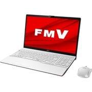 FMVA55D3WC [ノートパソコン LIFEBOOK AHシリーズ/15.6型ワイド/Corei7-8565U/メモリ 8GB/インテルOptaneメモリー 32GB + SSD 512GB/Blu-rayドライブ/Windows 10 Home 64ビット/Office Home and Business 2019/プレミアムホワイト/ヨドバシカメラオリジナルモデル]