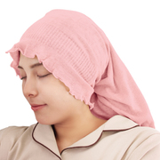 潤いシルクのおやすみヘアキャップ ピンク