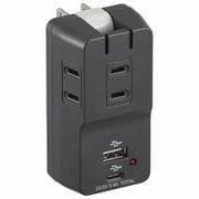 HS-TM3UC2N3-K [USBポート付電源タップ 3個口 雷ガード ブラック]