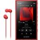 NW-A105HN RM [ポータブルオーディオプレーヤー Walkman(ウォークマン) A100シリーズ 16GB ハイレゾ音源対応 専用ヘッドホン付 レッド]