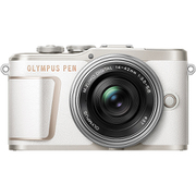 PEN E-PL10 14-42mmEZレンズキット WHT [ボディ+交換レンズ「M.ZUIKO DIGITAL ED 14-42mm F3.5-5.6 EZ シルバー」 ホワイト]