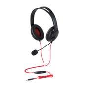 HS-GM20BK [両耳ゲーミングヘッドセット 4極 1.0m PS4/Switch対応 1.5m延長ケーブル付 ブラック]