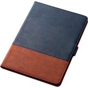 TB-A19MPLFDTNV [iPad Air 2019年モデル/iPad Pro 10.5インチ 2017年モデル/ソフトレザーカバー/フリーアングル/タッチペンホルダ搭載/ツートン/ネイビー×ブラウン]