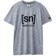 ロゴTシャツ SNM005240 グレーH83 Sサイズ [アウトドア カットソー メンズ]