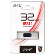 HDUF124S32G3 [HIDISC USB3.0フラッシュメモリー 32GB スライド式 シルバー]