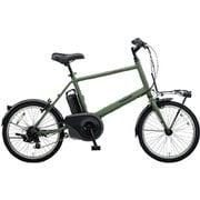 BE-ELVS072G [電動スポーツバイク VELO-STAR mini(ベロスター・ミニ) 20型 外装7段変速 マットオリーブ]