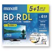 BRV50WPE.5+1S [録画用BD-R DL インクジェットプリンター対応ひろびろ美白レーベル 5枚+おまけ1枚]