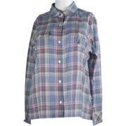 コットン混チェックシャツ JT-FS31 ブルー系 Mサイズ [アウトドア シャツ レディース]