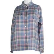 コットン混チェックシャツ JT-FS31 ブルー系 Lサイズ [アウトドア シャツ レディース]