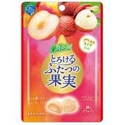 果汁グミとろけるふたつの果実 プラム&ライチ 52g