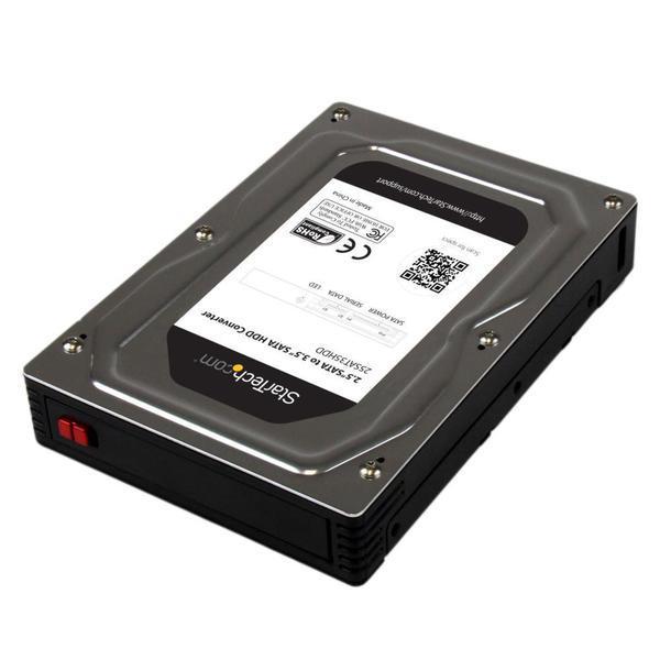 25SAT35HDD [HDD/SSD用2.5インチ - 3.5インチ SATAハードドライブ変換ケース アルミ製]