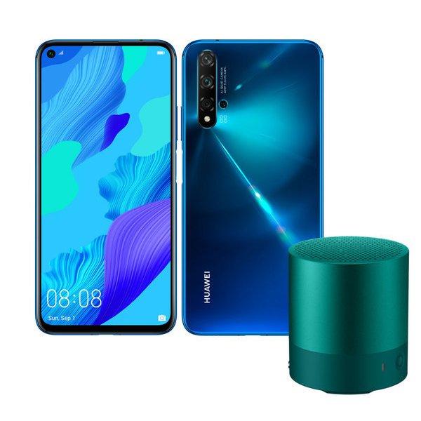 nova 5T/Crush Blue 初回限定版(mini speaker Green付き) [SIMフリースマートフォン Android 9/Emotion UI 9.1.0搭載 6.26インチ液晶]