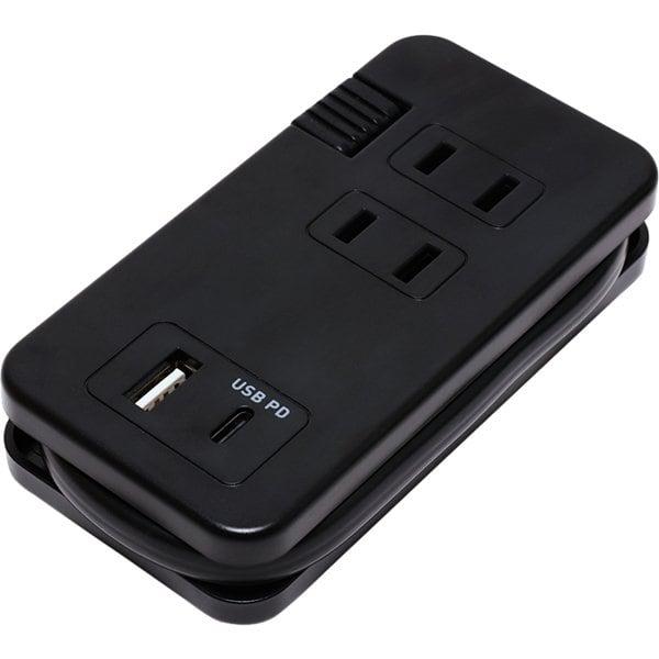 IPA-24AC4/BK [USB PD対応モバイルUSB ACタップ 黒]