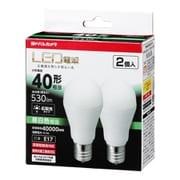 LDA4NGE172PYY [小型LED電球 40形相当 530lm E17 昼白色相当 広配光タイプ 密閉器具・断熱材器具対応 2個セット]