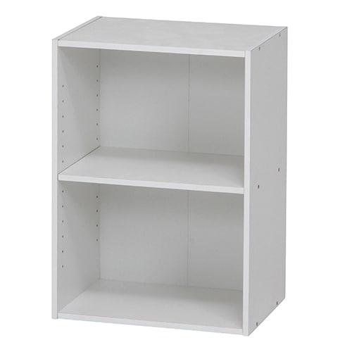 96613 [カラーボックス 可動棚2段 WH]