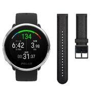 Ignite バンドルモデル ブラック+レザーブラック・ベルト(M/Lサイズ向け) [GPSフィットネスウォッチ]