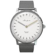 AK-001 [Akerfalk(オーカーフォーク) 腕時計 フレーム:シルバー 文字盤:ホワイト ベルト材質:メタルメッシュ(金属) カラー:シルバー スペシャルモデル ベルト付き NATO:グリーン]