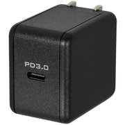 OWL-ACPD1C18-BK [AC充電器 PowerDelivery対応 USB Type-C 1ポート AC充電器 PD3.0 最大出力18W ブラック]