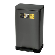 JH-8858TC [JAVA Lase ペダルビン ステンレス ゴミ箱 30L TG]