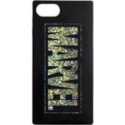 PG-DLQ17M01MVL [iPhone SE(第2世代)/8/7/6s/6 4.7インチ用 グリッターケース MARVEL ロゴ ブラック]