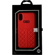 AU-TPUPCIPXS-Q8/D1-RD [Audi公式ライセンスケース iPhone XS/X バックカバー]