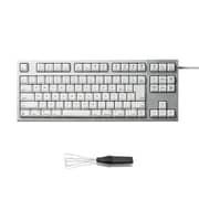 R2TL-JPVM-WH-KP [REALFORCE TKLfor Mac テンキーレスキーボード 日本語91キー配列 USB シルバー/白 昇華印字 変荷重 ワイヤーキープラーセットモデル]