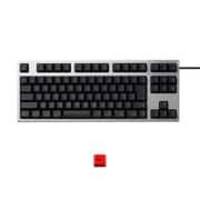 R2TLSA-JP3M-BK-EK [REALFORCE TKLfor Mac テンキーレスキーボード 日本語91キー配列 USB シルバー/黒 レーザー印字 ALL30g 静音/APC機能 赤ESCキーキャップセットモデル]
