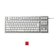 R2TLSA-JP3M-WH-EK [REALFORCE TKLfor Mac テンキーレスキーボード 日本語91キー配列 USB シルバー/白 昇華印字 ALL30g 静音/APC機能 赤ESCキーキャップセットモデル]