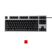 R2TLSA-US3M-BK-EK [REALFORCE TKLfor Mac テンキーレスキーボード 英語86キー配列 USB シルバー/黒 レーザー印字 ALL30g 静音/APC機能 赤ESCキーキャップセットモデル]