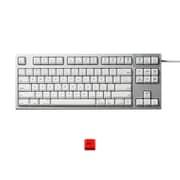 R2TLSA-US3M-WH-EK [REALFORCE TKLfor Mac テンキーレスキーボード 英語86キー配列 USB シルバー/白 昇華印字 ALL30g 静音/APC機能 赤ESCキーキャップセットモデル]