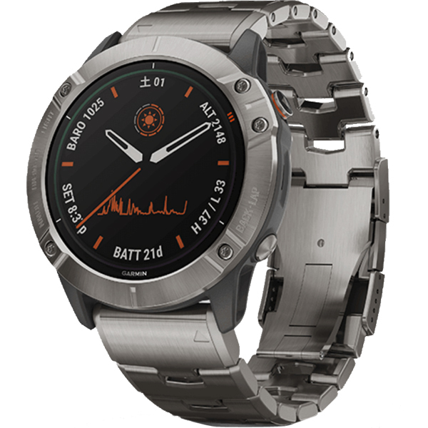 010-02157-5A [スマートウォッチ fenix 6X Pro Dual Power Ti Gray Titanium band]