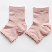 シルクでかかとケア靴下 桜色