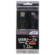 YDC-UD3CS100K [ヨドバシカメラオリジナル Type-C 通信・充電USBケーブル (Type-C - USB-A) USB2.0 3A対応 / USB-IF正規認証品 1m ブラック]