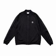 574S ウォームアップトラックジャケット JMJP0211 BK ブラック Lサイズ [ランニングシャツ メンズ]