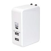 IPA-C05/WH [USBPD対応 61W USB-ACアダプタ 3ポート ホワイト]