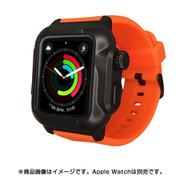 YHDIPCW5L-OR [Apple Watch 4/5/6/SE 44mm 用 防塵防水タフネスケース オレンジ]