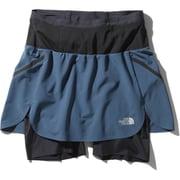 フライウェイトレーシングスカート Flyweight Racing Skirt NBW41978 (SB)シェイディーブルー Sサイズ [インナー付きランニングスカート レディース]